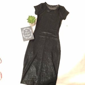 Nwt Black Sparkly Mesh Back Bodycon dress